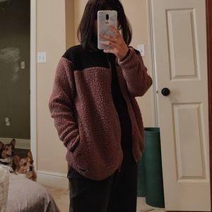 Pink Victoria secrets two tone zip sweater xs